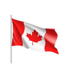 waving flag of canada vector image