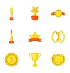 Win icons set cartoon style vector image