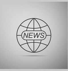 World and global news concept icon vector