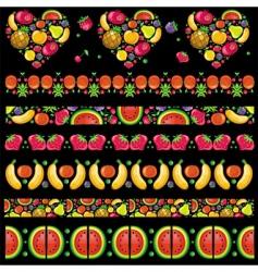 fruity juicy patterns vector image