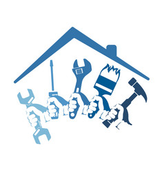Home repairs with a tool vector