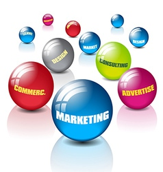Marketing with balls vector image