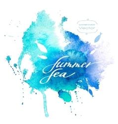 Watercolor Blue Texture vector image vector image