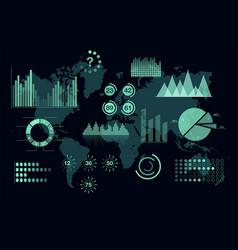 world analytics infographic set of transparent vector image