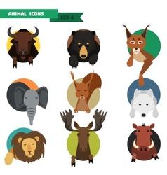 Animal avatars vector image vector image