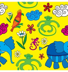 animals and flowers vector image vector image