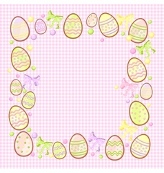 background for messages with egg rose vector image vector image