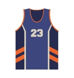 Basketball jersey icon vector