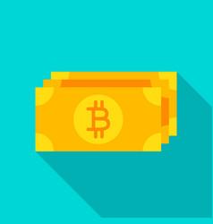bitcoin banknote flat icon vector image