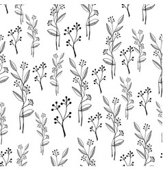 black and white flower pattern vector image