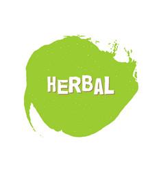 herbal eco fresh vegan green design template vector image