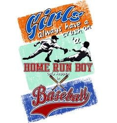 home run boy vector image vector image