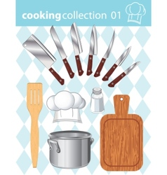 kitchen and cooking collection vector image vector image
