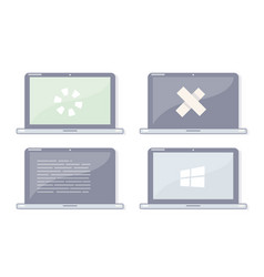 repair laptop vector image