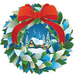 Winter night Christmas Eve vector image vector image