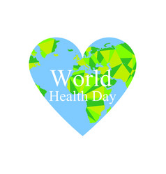 world health day the continents of the planet vector image vector image