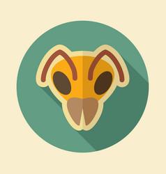 bee flat icon animal head symbol vector image