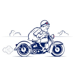 cartoon biker ride vector image