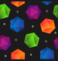 colorful gradient geometric diamonds seamless vector image vector image