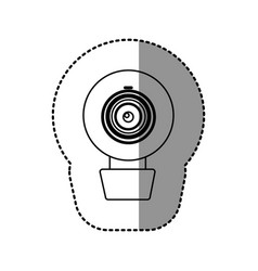 contour computer camera icon vector image