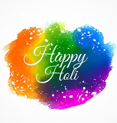indian happy holi festival colorful ink paint vector image