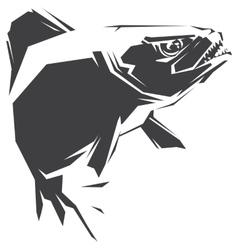 Piranha black vector image