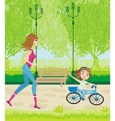 sport in the park vector image vector image