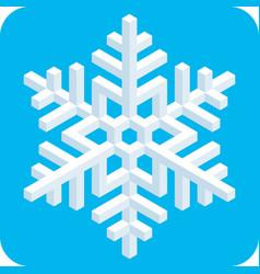 3d isometric snowflake icon vector image