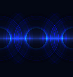 frequency wave circle abstract background vector image