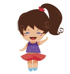 kawaii blue yes princess vector image vector image