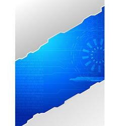 Modern folder - technology concept vector image vector image