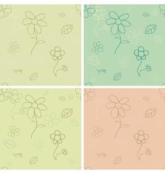 Vintage seamless pattern set vector image vector image