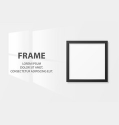 3d realistic black square wooden simple vector image