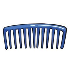 A blue comb vector