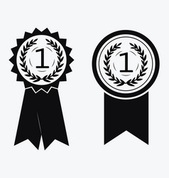 A sign premium class medal with a star and vector