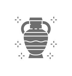 Amphoras ancient greek pottery primitive clay vector