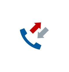 arrow call logo icon design vector image