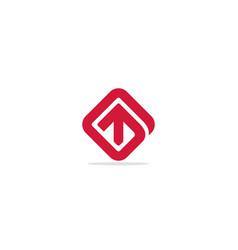 Arrow up square logo vector
