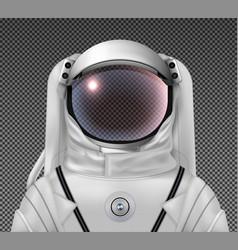 Astronaut in suit composition vector