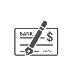 bank check icon flat vector image