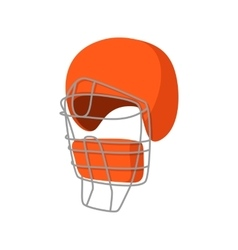 Baseball catcher helmet cartoon icon vector
