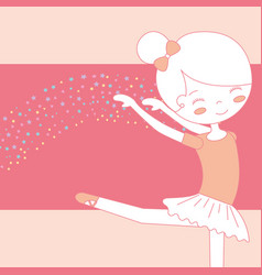 beautiful ballerina dancing ballet gracefully vector image