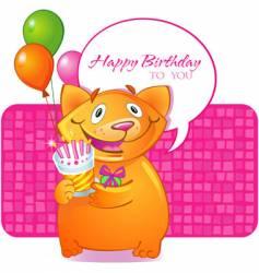 birthday cat vector image