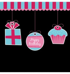 Birthday decorations vector