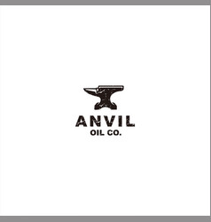 Black anvil logo template design vector