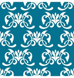 Blue decorative seamless pattern vector