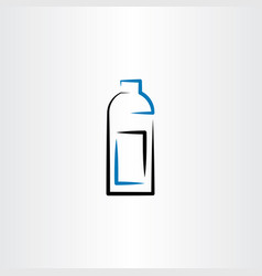 bottle icon symbol line vector image