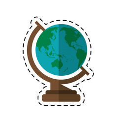 Cartoon globe map school design vector