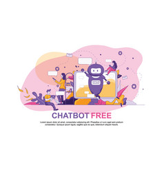 chatbot free artificial intelligence technology vector image