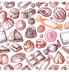 chocolate sweet candy seamless pattern vector image